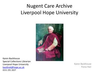 Nugent Care Archive Liverpool Hope University