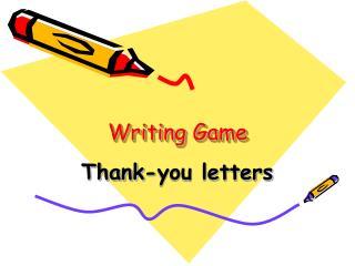 Writing Game