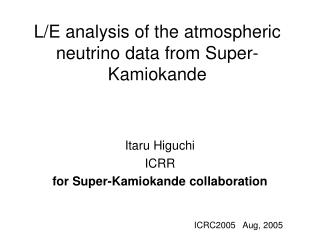 L/E analysis of the atmospheric neutrino data from Super-Kamiokande