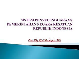 SISTEM PENYELENGGARAAN PEMERINTAHAN NEGARA KESATUAN REPUBLIK INDONESIA