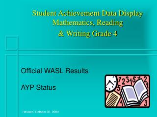 Student Achievement Data Display Mathematics, Reading & Writing Grade 4