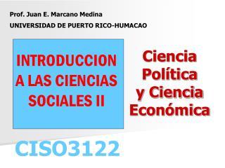 Ciencia  Política y Ciencia Económica