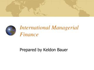 International Managerial Finance