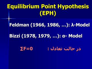 Equilibrium Point Hypothesis (EPH)