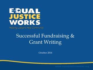 Successful Fundraising & Grant Writing October 2014