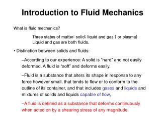 What is fluid mechanics?