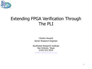 Extending FPGA Verification Through The PLI