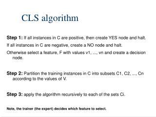 CLS algorithm