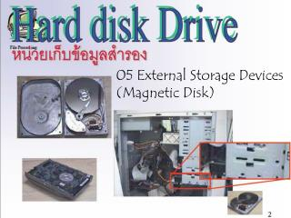 05 External Storage Devices  (Magnetic Disk)