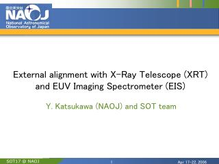 External alignment with X-Ray Telescope (XRT) and EUV Imaging Spectrometer (EIS)