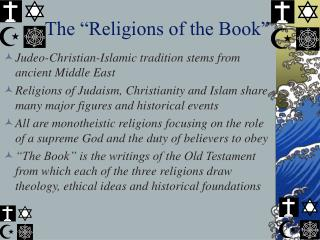 "The ""Religions of the Book"""