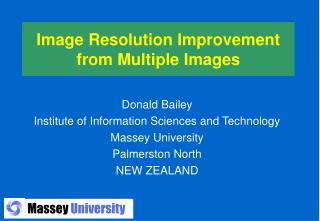 Image Resolution Improvement from Multiple Images