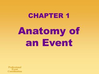 CHAPTER 1 Anatomy of an Event