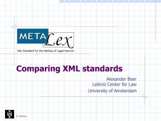 Comparing XML standards