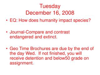 Tuesday  December 16, 2008
