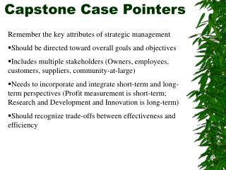 Capstone Case Pointers