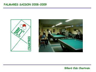 PALMARES SAISON 2008-2009