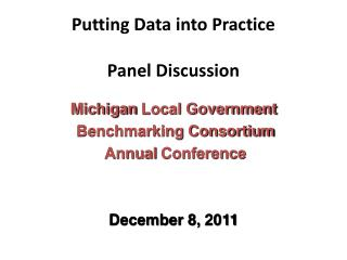 Putting Data into Practice Panel Discussion
