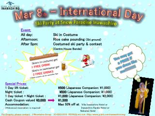 Mar 8 th  - International Day