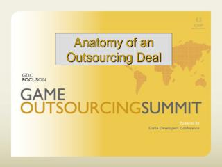 Anatomy of an Outsourcing Deal