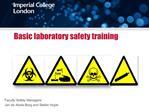 Basic laboratory safety training