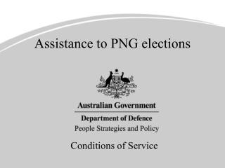 Assistance to PNG elections