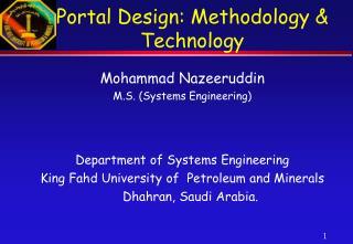 Portal Design: Methodology & Technology