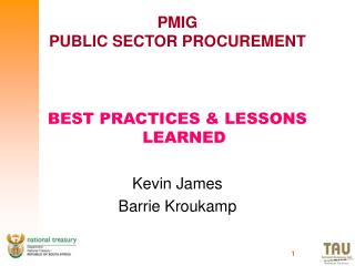 PMIG PUBLIC SECTOR PROCUREMENT