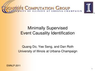 Minimally Supervised  Event Causality Identification