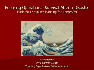 Ensuring Operational Survival After a Disaster Business Continuity Planning for Nonprofits