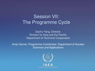 Session VII:  The Programme Cycle