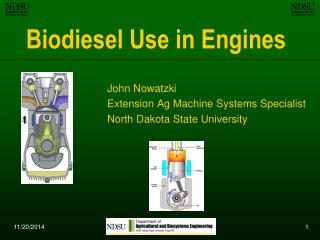 Biodiesel Use in Engines