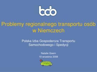 Problemy regionalnego transportu osób w Niemczech