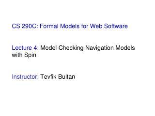 Model Checking Navigation