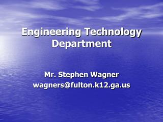 Engineering Technology Department