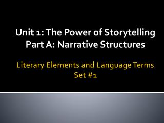 Literary Elements and Language Terms Set #1