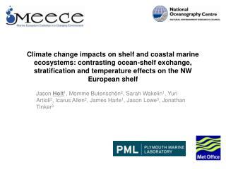 Climate impacts on shelf sea ecosystems