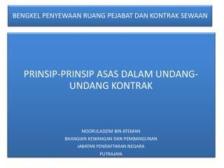 Prinsip Asas Dalam Undang-undang Kontrak