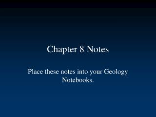 Chapter 8 Notes