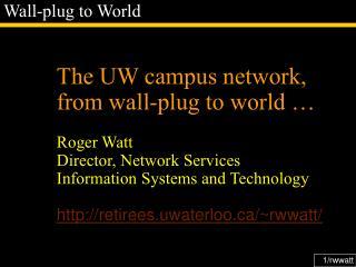 Wall-plug to World