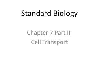 Standard Biology