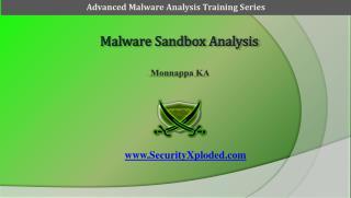Malware Sandbox Analysis