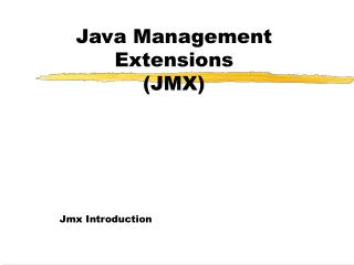 Java Management Extensions (JMX)