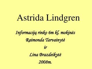 Astrida Lindgren