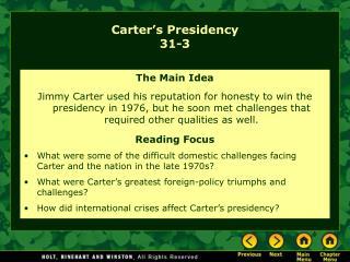 Carter's Presidency 31-3