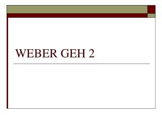 WEBER GEH 2