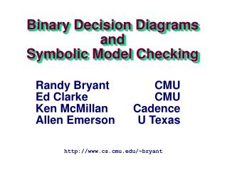 Binary Decision Diagrams and Symbolic Model Checking