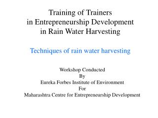 Workshop Conducted  By Eureka Forbes Institute of Environment For