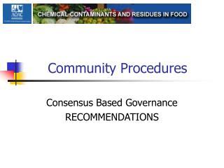 Community Procedures