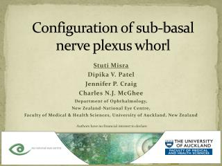 Configuration of sub-basal nerve plexus whorl